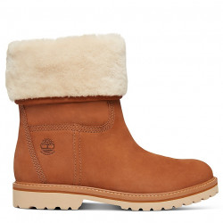 timberland botte chamonix valley shearling - saddle, cuir, cuir