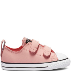 converse chuck taylor all star 2v graphite - rose, cuir, textile