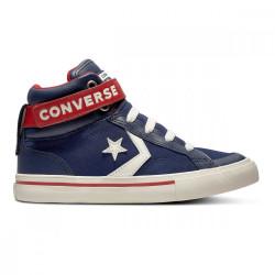 converse pro blaze - bleu, cuir/suede, cuir/textile