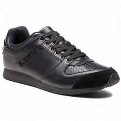 versace sneakers - noir, cuir, cuir/textile