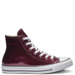 converse chuck taylor seasonal color high - bordeaux, textile, textile