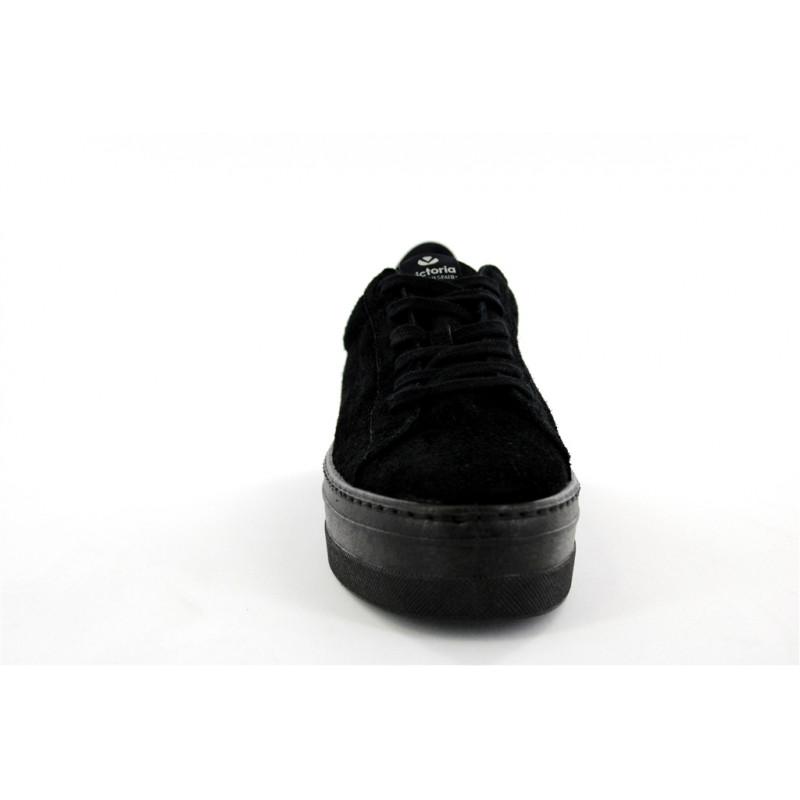 VICTORIA. - VICTORIA 092118 COMPENSÉES negro azulCHER CROÛTE DE CUIR negro COMPENSÉES SYNTETIC TEXT c9f237