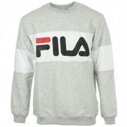 fila straight blocked crew - gris, textile, textile