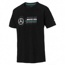 puma t-shirt mercedes amg - noir, coton., coton.