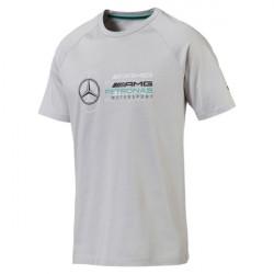 puma t-shirt mercedes amg - gris, coton., coton.