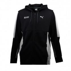 puma veste de survêtement amg - noir, coton/poly/elas, coton/poly/elas