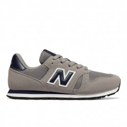 new balance yc373 gn - gris, cuir/suede, cuir/textile