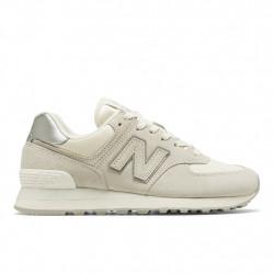 new balance wl574 sss - blanc, cuir/suede, cuir/textile