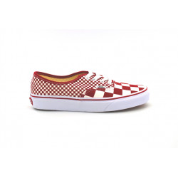 vans authentic mix checker - rouge, toile, toile