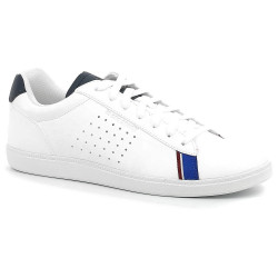 le coq sportif courtstar - blanc-bleu, cuir, toile