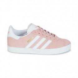 adidas chaussure gazelle - rose, cuir/suede, textile