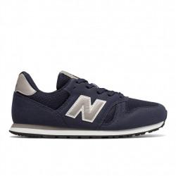 new balance yc373 nv - bleu, cuir/suede, cuir/textile