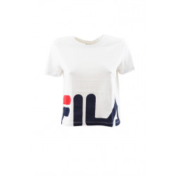 fila early cropped tee - blanc, textile, textile