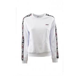 fila tivka crew sweat - blanc, textile, textile