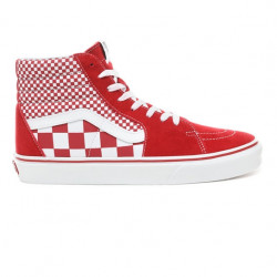 vans sk8 mix checker - rouge, textile, textile