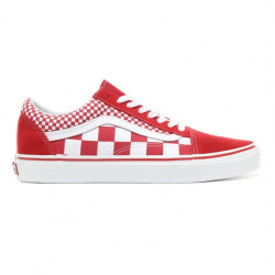 vans old skool mix checker - rouge, toile, toile
