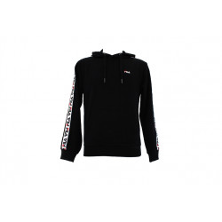 fila david tape hoodie - noir, textile, textile