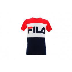 fila day tee - bleu-rouge, textile, textile