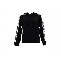 fila clara hoodie sweat - noir, textile, textile