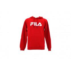 fila classic pure hoody kangaroo - rouge, textile, textile