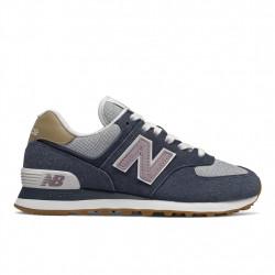 new balance wl574 nvc - bleu, cuir/suede, cuir/textile