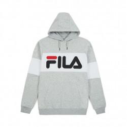 fila night blocked hoody - gris, textile, textile