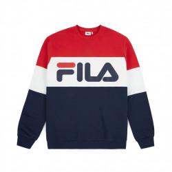 fila straight blocked crew - rouge-bleu, textile, textile