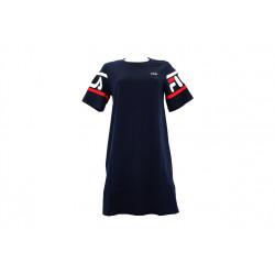 fila steph tee dress - bleu, textile, textile