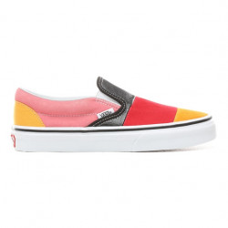 vans slip-on patchwork - multicolor, cuir, cuir