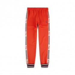 fila lou track pant - orange, textile, textile