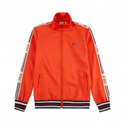 fila lefty track jacke - orange, textile, textile