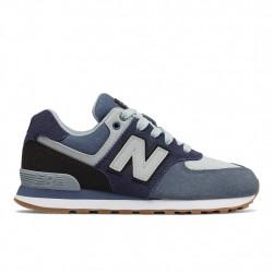 new balance gc574 - bleu, cuir/suede, cuir/textile