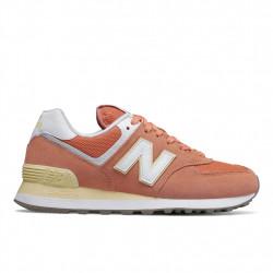 new balance wl574 esf - orange, cuir/suede, cuir/textile