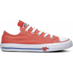 converse kid's low top - rouge, syntetic/textile, textile