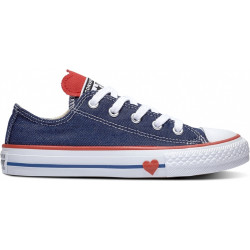 converse kid's low top - bleu, syntetic/textile, textile