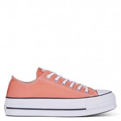CONVERSE CHUCK TAYLOR LIFT - orange-peche, textile, textile