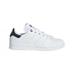 adidas stan smith j - blanc-jeans, cuir, cuir/textile