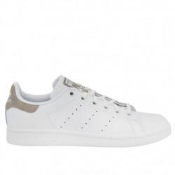 adidas stan smith j - blanc-beige, cuir, cuir/textile