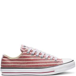Converse - Chuck Taylor Stripes - rouge, textile, textile