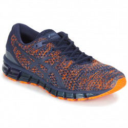 asics t840n gel quantum 360 knit 2 - bleu-orange, syntetic/textile, textile