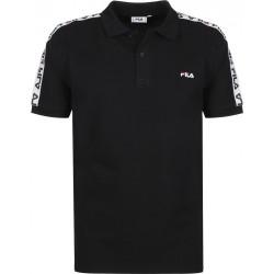 FILA - TIBOR POLO - noir, textile, textile