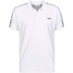 FILA - TIBOR POLO - blanc, textile, textile