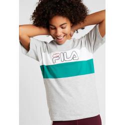 FILA - LEI TEE - gris, textile, textile