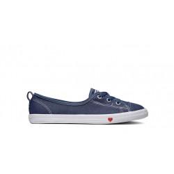 CONVERSE - ALL STAR BALLET W - bleu-jeans, textile, textile