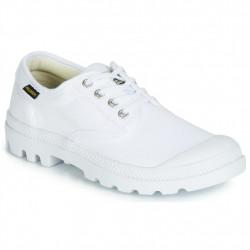 PALLADIUM - PAMPA OX ORIGINALE - blanc-mono, coton., coton.