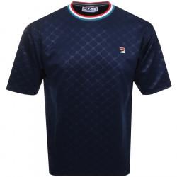 FILA - VINTAGE PLUTO EMBOSSED - bleu, textile, textile