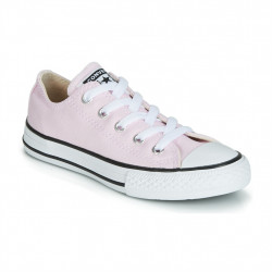 converse kid's low top - rose, syntetic/textile, textile