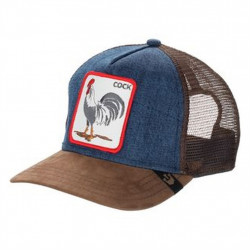GOORIN BROS - CASQUETTE TRUCKER COCK BLEU DENIM MARRON -