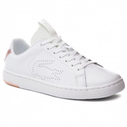 LACOSTE - CARNABY EVO LIGHT - blanc-rose, cuir, cuir/textile