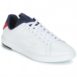 LACOSTE - CARNABY EVO LIGHT - blanc-rouge, cuir, cuir/textile